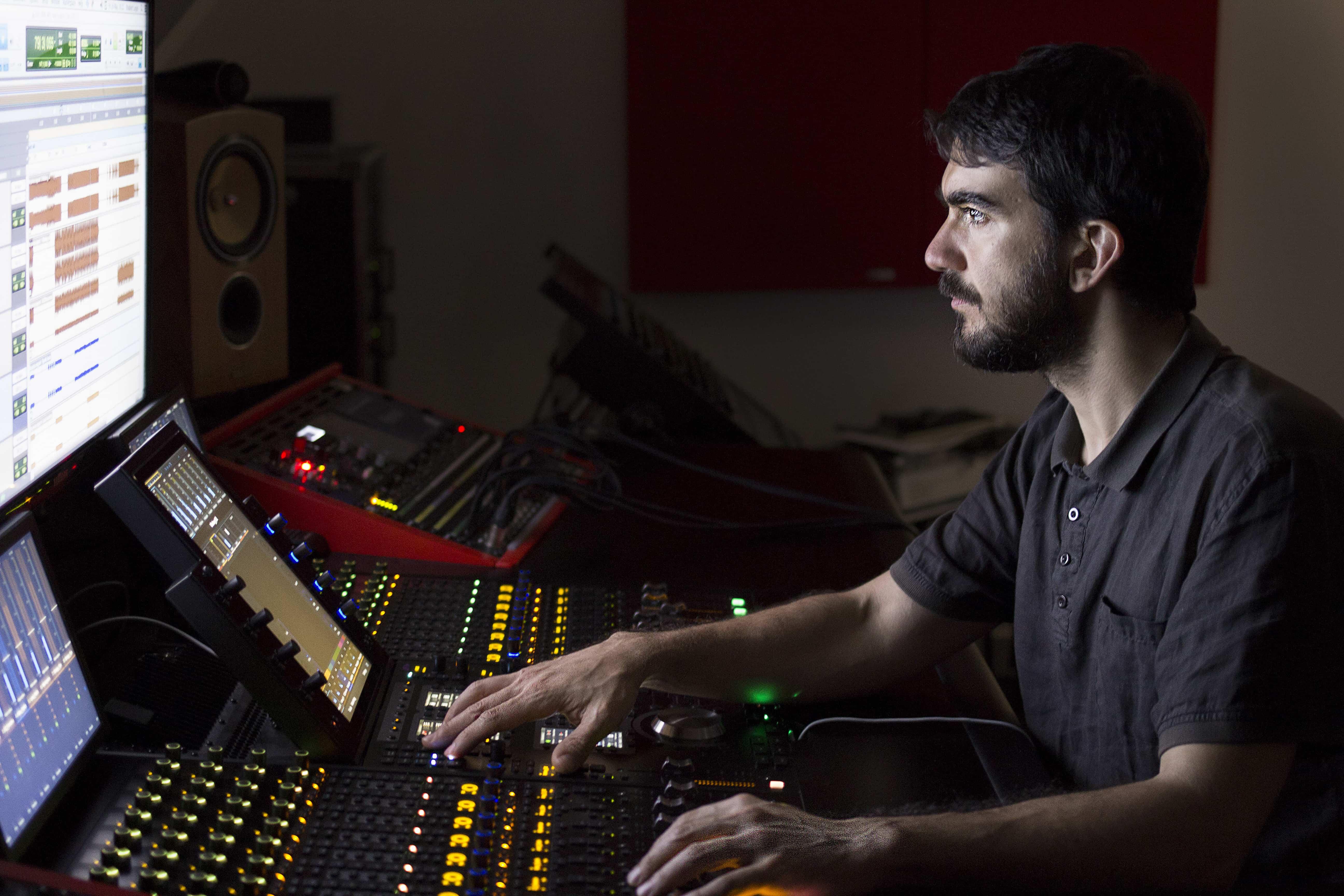 Carlos Bricio working at our Avid S6 M40 Console