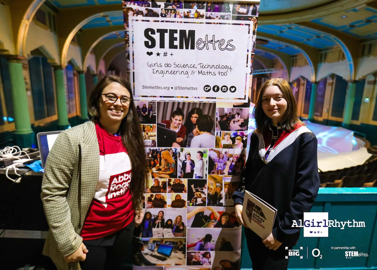 Marta and Lizzie at the Stemettes event in Glasgow. Picture credits Stemettes